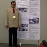 With poster at World congress of Endourology at Kyoto, 2010