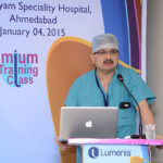 talk during the laser prostate training program at Ahmedabad 2015