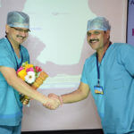welcome by ketan shukla during the laser training program at Ahmedabad 2015